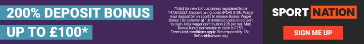 200% DEPOSIT BONUS UP TO £100